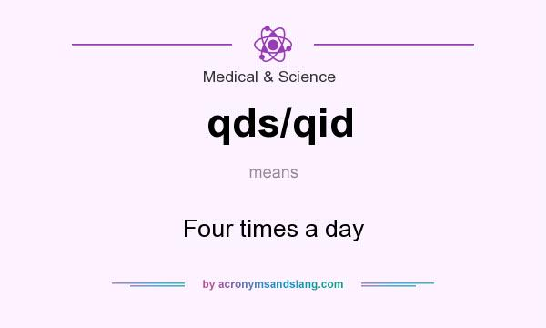 What does qds/qid mean? It stands for Four times a day