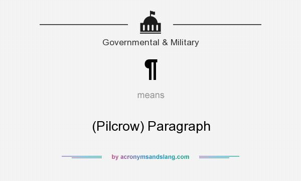 What does ¶ mean? It stands for (Pilcrow) Paragraph