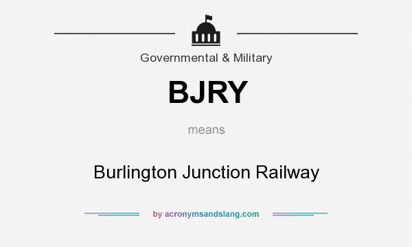 What does BJRY mean? It stands for Burlington Junction Railway