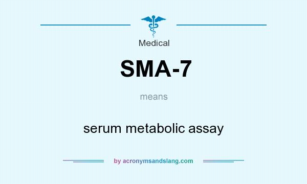 What does SMA-7 mean? It stands for serum metabolic assay