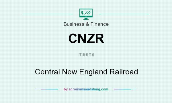 What does CNZR mean? It stands for Central New England Railroad