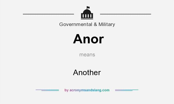 What does Anor mean? It stands for Another