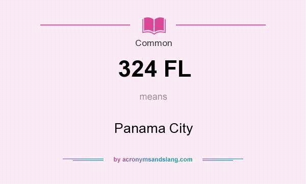 What does 324 FL mean? It stands for Panama City