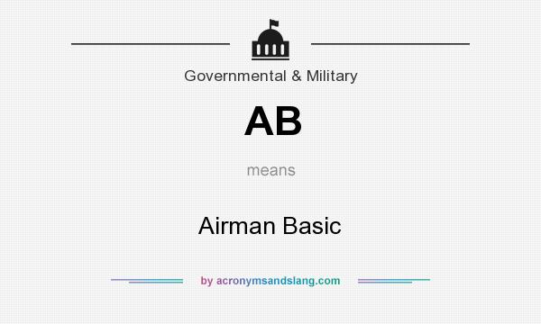 What does AB mean? It stands for Airman Basic