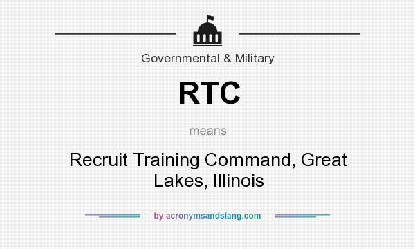 What does RTC mean? It stands for Recruit Training Command, Great Lakes, Illinois