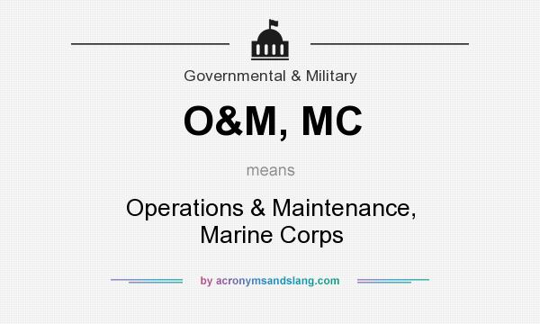 What does O&M, MC mean? It stands for Operations & Maintenance, Marine Corps