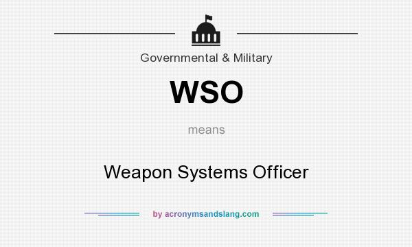 What does WSO mean? It stands for Weapon Systems Officer