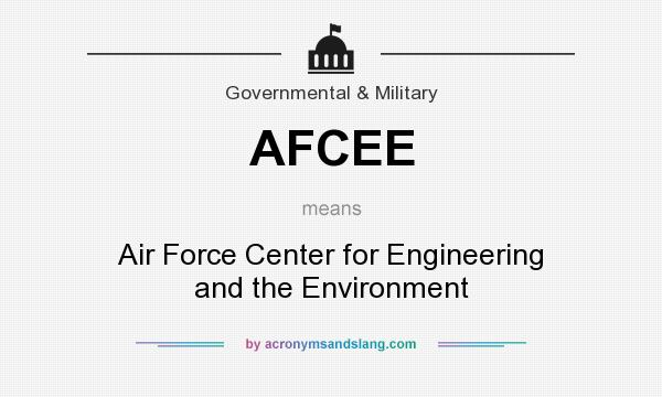 What does AFCEE mean? It stands for Air Force Center for Engineering and the Environment
