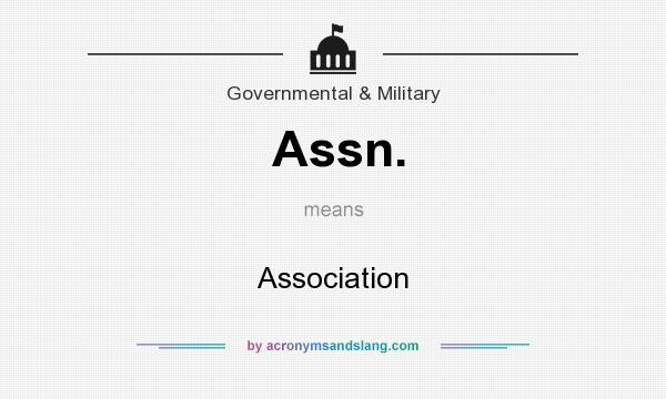 What does Assn. mean? It stands for Association