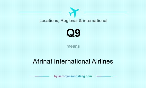 What does Q9 mean? It stands for Afrinat International Airlines