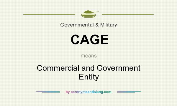 What does CAGE mean? It stands for Commercial and Government Entity