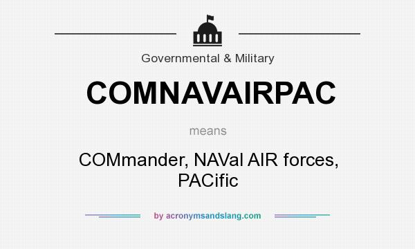 What does COMNAVAIRPAC mean? It stands for COMmander, NAVal AIR forces, PACific