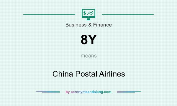 What does 8Y mean? It stands for China Postal Airlines