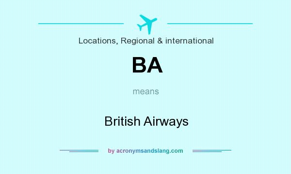 What does BA mean? It stands for British Airways