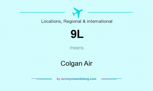What does 9L mean? It stands for Colgan Air