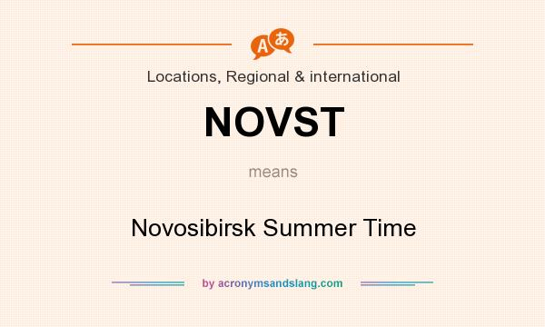 What does NOVST mean? It stands for Novosibirsk Summer Time