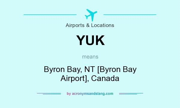 What does YUK mean? It stands for Byron Bay, NT [Byron Bay Airport], Canada