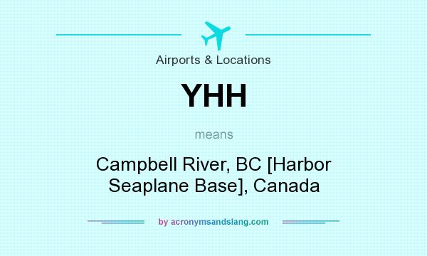 What does YHH mean? It stands for Campbell River, BC [Harbor Seaplane Base], Canada