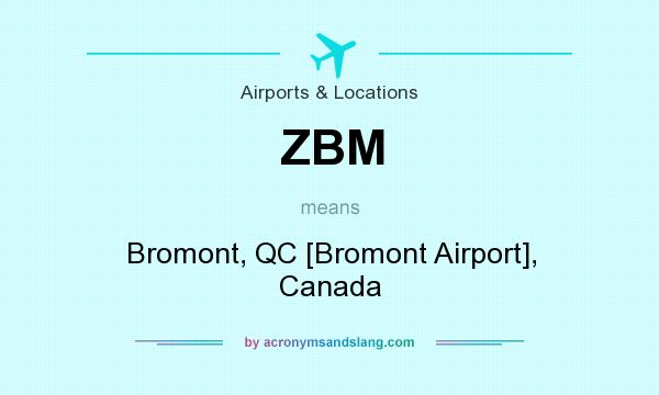 What does ZBM mean? It stands for Bromont, QC [Bromont Airport], Canada