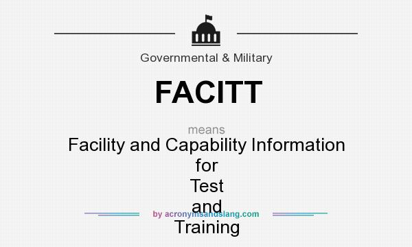 What does FACITT mean? It stands for Facility and Capability Information for Test and Training
