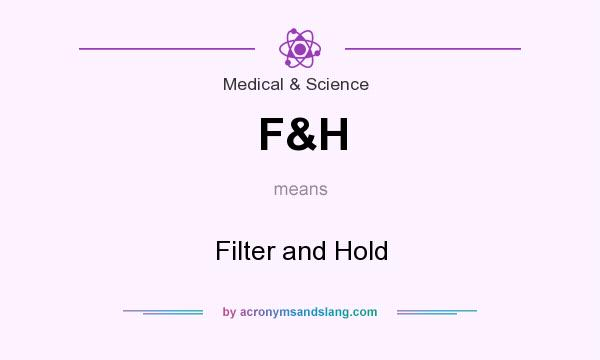 What does F&H mean? It stands for Filter and Hold