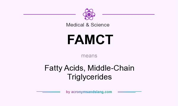 What does FAMCT mean? It stands for Fatty Acids, Middle-Chain Triglycerides