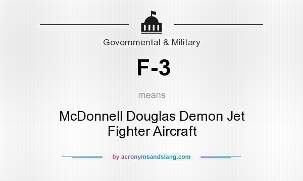 What does F-3 mean? It stands for McDonnell Douglas Demon Jet Fighter Aircraft