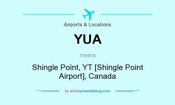 What does YUA mean? It stands for Shingle Point, YT [Shingle Point Airport], Canada