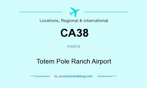 What does CA38 mean? It stands for Totem Pole Ranch Airport