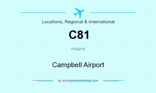 What does C81 mean? It stands for Campbell Airport