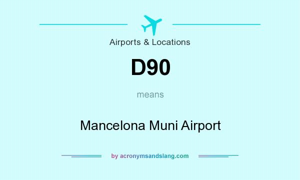 What does D90 mean? It stands for Mancelona Muni Airport