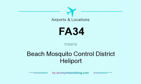 What does FA34 mean? It stands for Beach Mosquito Control District Heliport