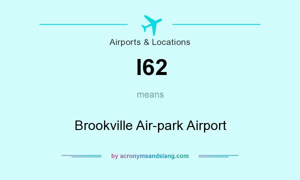 What does I62 mean? It stands for Brookville Air-park Airport