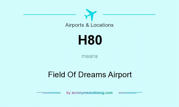 What does H80 mean? It stands for Field Of Dreams Airport