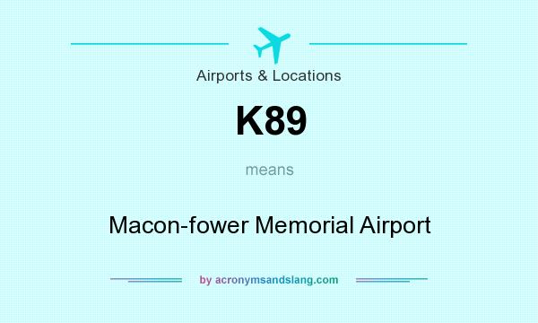 What does K89 mean? It stands for Macon-fower Memorial Airport