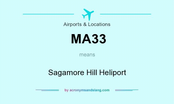 What does MA33 mean? It stands for Sagamore Hill Heliport