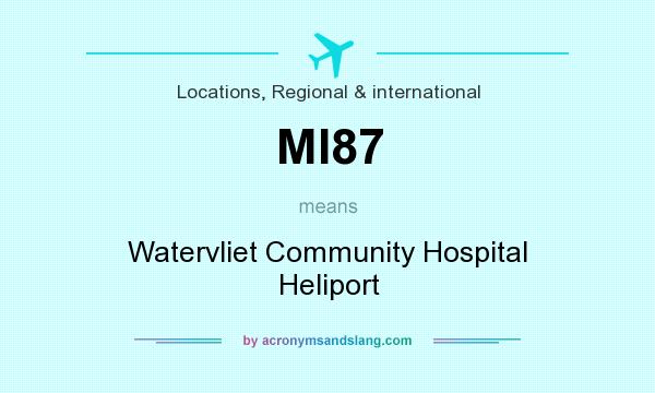 What does MI87 mean? It stands for Watervliet Community Hospital Heliport
