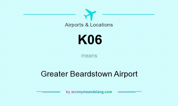 What does K06 mean? It stands for Greater Beardstown Airport