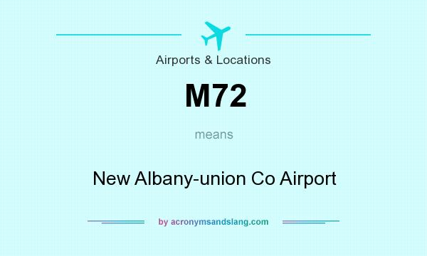 What does M72 mean? It stands for New Albany-union Co Airport