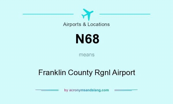 What does N68 mean? It stands for Franklin County Rgnl Airport