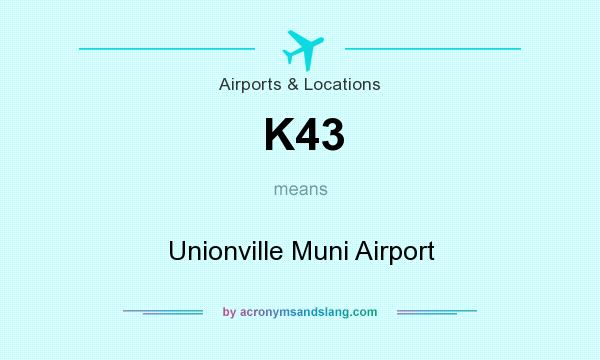 What does K43 mean? It stands for Unionville Muni Airport