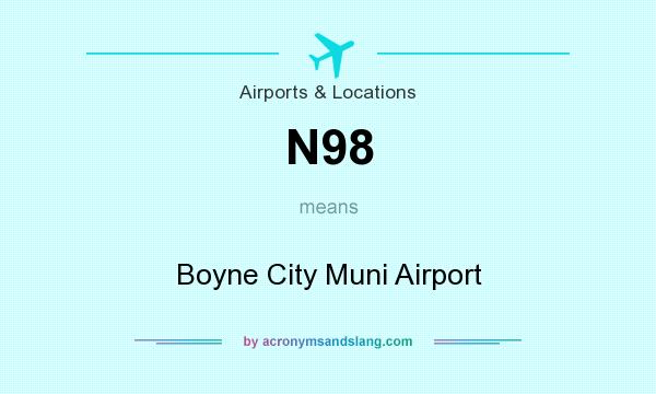 What does N98 mean? It stands for Boyne City Muni Airport