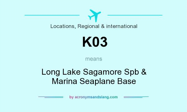 What does K03 mean? It stands for Long Lake Sagamore Spb & Marina Seaplane Base