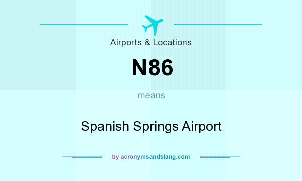 What does N86 mean? It stands for Spanish Springs Airport