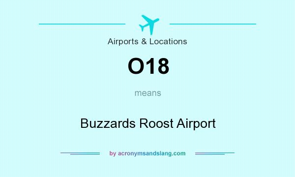 What does O18 mean? It stands for Buzzards Roost Airport