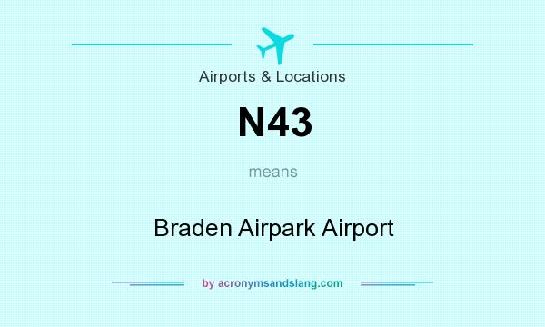 What does N43 mean? It stands for Braden Airpark Airport