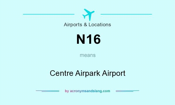 What does N16 mean? It stands for Centre Airpark Airport