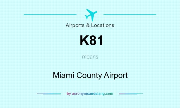 What does K81 mean? It stands for Miami County Airport
