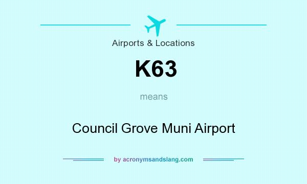 What does K63 mean? It stands for Council Grove Muni Airport