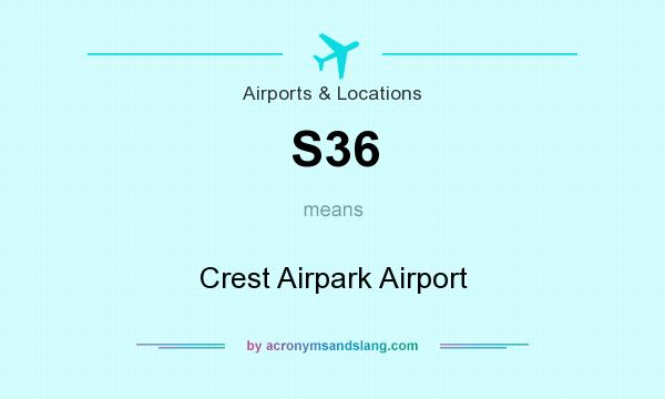 What does S36 mean? It stands for Crest Airpark Airport